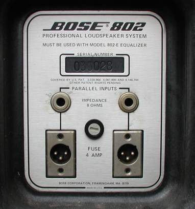 convert bose 802 to speakons rh neatcircuits com bose 802 series ii controller manual bose 802 series ii service manual
